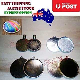 5pcs Cabochon Bases 18mm 30mm ID Antique Bronze Silver Gold Charms Pendant