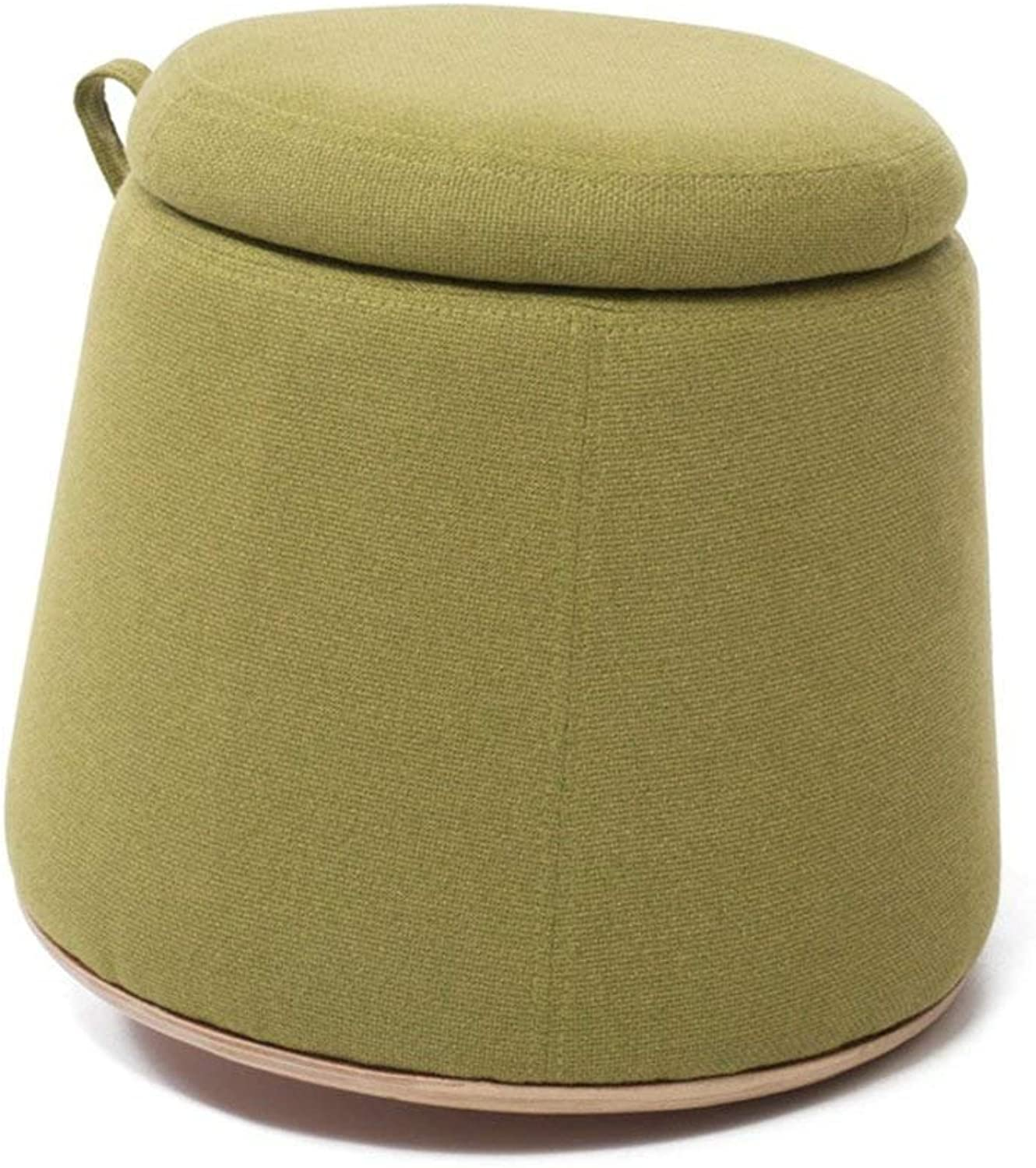 QTQZ Brisk- Creative Pastoral Storage Stool Bedroom for shoes Stool Trolley Storage Stool Hand Knit The Stool (4 colors Optional) (30  30cm) (color  C)