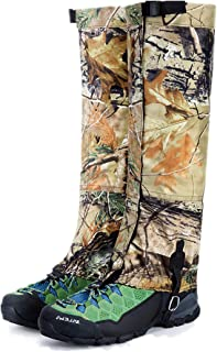 UNISTRENGH Outdoor Waterproof Leg Gaiters Breathable Camouflage for Hiking Climbing Hunting Snow Ski Boot Gaiters Guard Legging Leg Cover Wraps