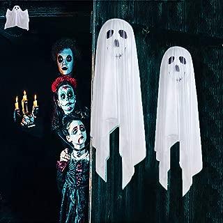 Halloween Decorations, Halloween Ghost Hanging Decorations Scary Creepy, Halloween Hanging Props Scary Halloween Hanging Skeleton Flying Ghost for Outdoor Indoor Home Yard White, 2 Pack