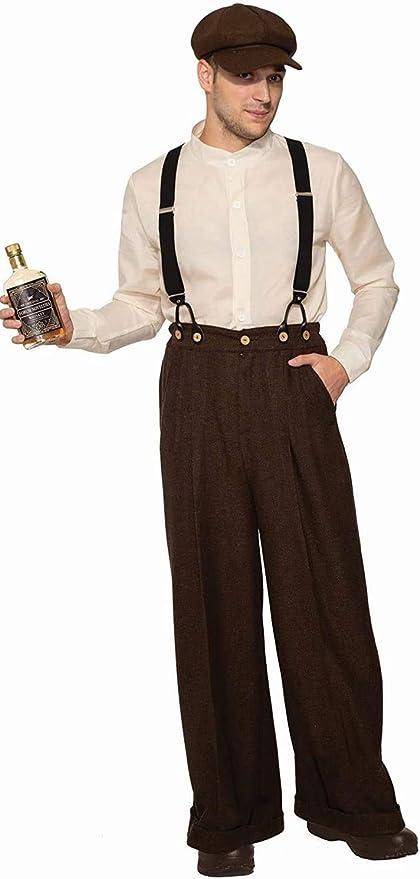 1920s Men's Outfit Inspiration – Costume Ideas Roaring Twenties Forum Novelties Bootlegger Adult Costume  AT vintagedancer.com