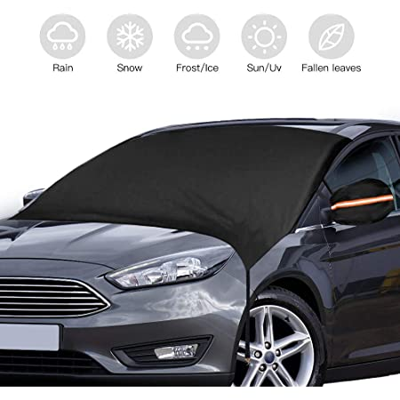 MPVs Upgraded/Waterproof/Oxford/210D/Windshield Cover for Snow and Ice/with/2 Rear/Mirror/Covers Black SUVs SUKCESO Windscreen Snow Cover Fits/Most/Cars Trucks