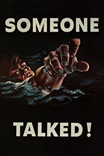 Someone Talked WPA War Propaganda Cool Wall Decor Art Print Poster 24x36