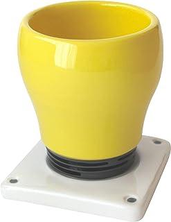 Taza Bombilla de Cerámica Hecho y pintado a mano, Posavasos en forma de enchufe eléctrico - 300 ml