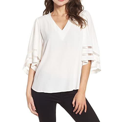 3 4 Bell Sleeve Blouses Amazon Com
