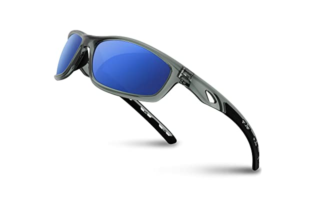 891aac1cea RIVBOS Polarized Sports Sunglasses Driving Sun Glasses Shades for Men Women  Tr 90 Unbreakable Frame for Cycling Baseball Running Rb833