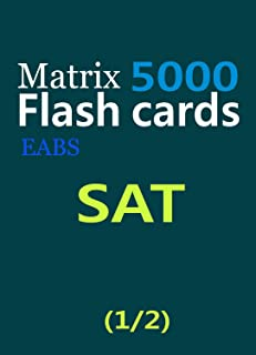 SAT Matrix Flash Cards (5000)_ (1/2) (English Edition)