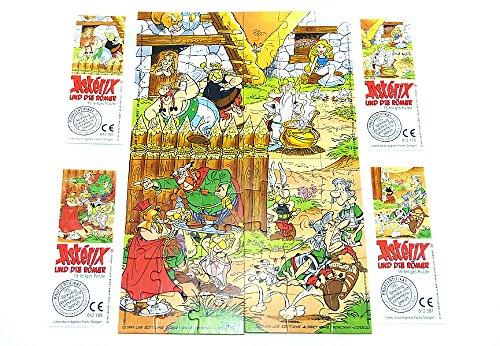 Kinder Überraschung Asterix und die Römer, alle 4 Puzzle + Beipackzettel (Superpuzzle)