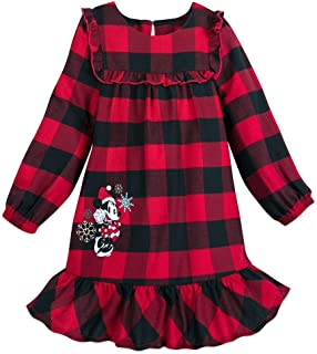Image of Disney Plaid Minnie Mouse Christmas Nightgown for Girls and Toddlers