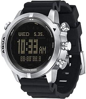YLB الرجال s الغوص الرقمية ووتش smartwatch ساعة اليد اللياقة البدنية تعقب الغوص الغوص NDL (لا ديكو الوقت) 50m الساعات الغو...