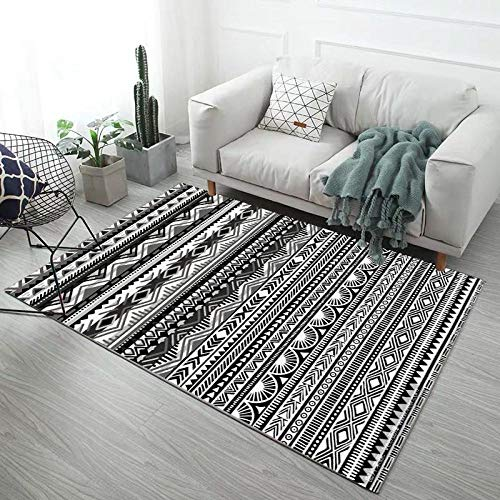 HXJHWB in & Outdoor Modern Design Teppich - Sofa, Couchtisch, einfacher geometrischer Teppich, Wohnzimmer, Arbeitszimmer, Schlafzimmer, schmutzabweisender Teppich am Bett-160CMx200CM