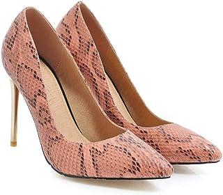 48c18024 Rex rabbit-SS Zapatos de Mujer Solos de Leopardo en Punta del Dedo del pie