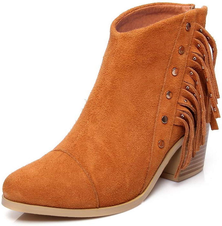 AdeeSu Womens Beaded Warm Lining Solid Urethane Boots SXE04278