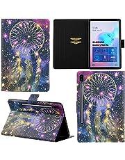 DodoBuy Fodral till Samsung Galaxy Tab S6, magnetisk flip smart fodral PU-läder tunn tunn plånbok väska stativ med kortfack – drömfångare