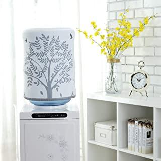 DFYOUHome Water Dispenser Barrel Covers, Reusable Furniture Standard Cover Protector for Home, Office and 5 Gallon Water Bottle, Durable Fabric Bucket Décor (Tree)