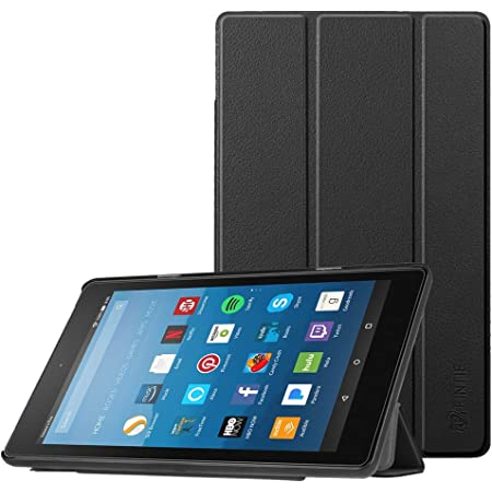Fintie Slim Case for Amazon Fire HD 8 Tablet (7th and 8th Generation Tablets, 2017 and 2018 Releases), Ultra Lightweight Slim Shell Standing Cover with Auto Wake/Sleep, Black
