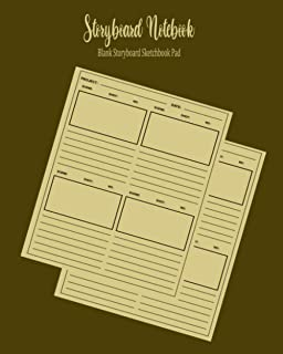 Storyboard Notebook: Blank Storyboard Sketchbook Pad, Illustration Template Book With Panels - Sketchbook for Filmmakers &...