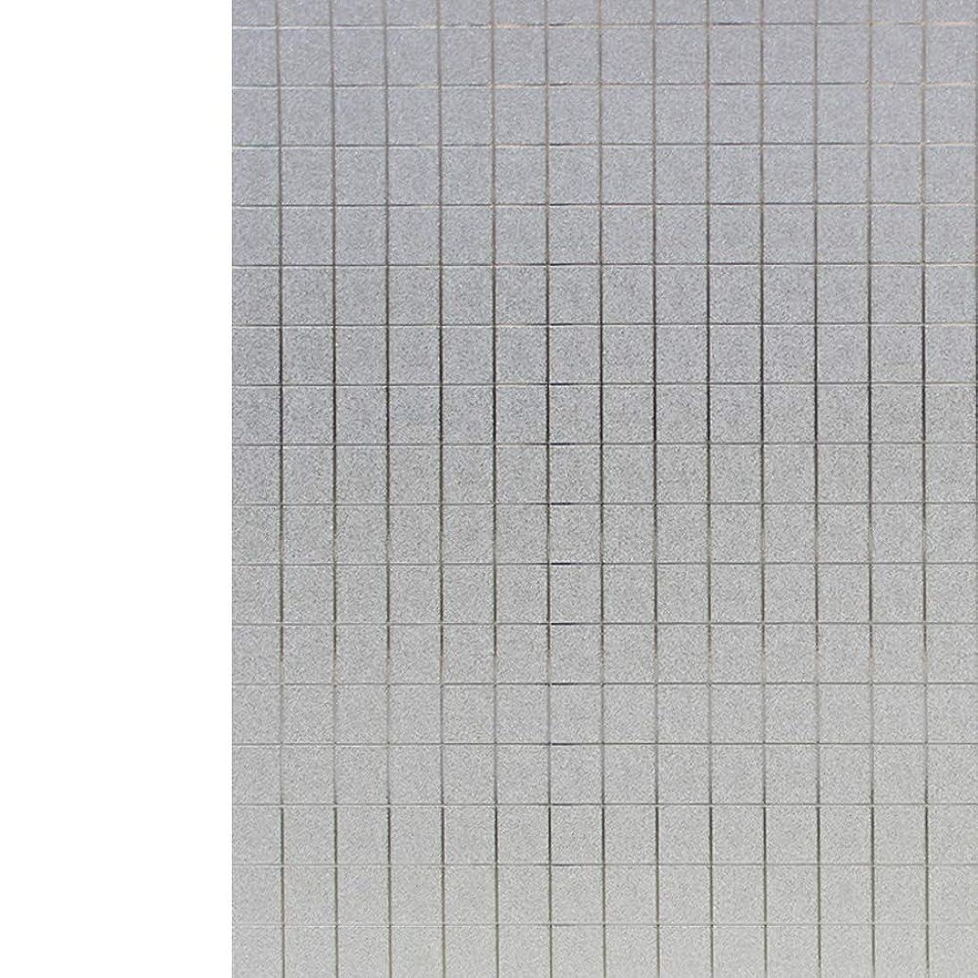 戦うストロー上に築きますYiwanda 窓ガラスフィルム 断熱フィルム UVカットシート 無接着剤 遮光 遮熱 ガラスフィルム 建築建物ガラスフィルム 飛散防止 (90*300CM,46)