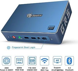 SeeKool U55 Mini PC Procesador Intel/® Broadwell i3-5005U Dual Core 2.0GHz DDR3L 8G RAM+128G SSD Soporte expandible con Intel HD Graphics 5500 HDMI Dual 1000M LAN//Ventilador//Tipo-C