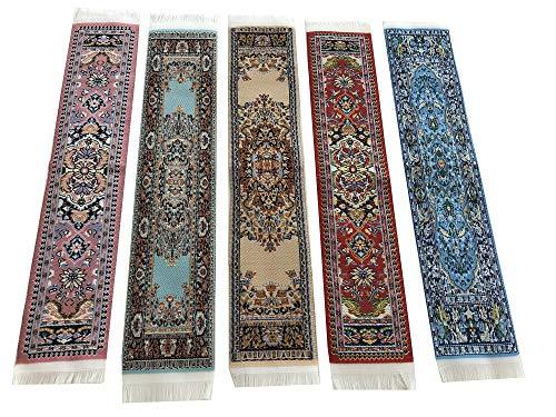 Bellissimo tappeto segnalibri tessuto tappeto segnalibro stile orientale design colorato 1.5 Set-5-1