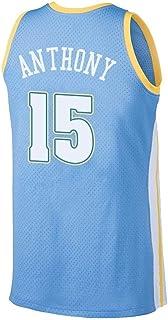 CCKWX Denver Nuggets # 15 Carmelo Anthony Baloncesto Vintage Baloncesto Jersey, Tela Bordada Unisex Clásico Sin Mangas Jersey Camiseta,B,L:180cm/75~85kg