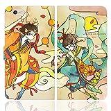 iPhone6S iPhone6 手帳型 ケース カバー 風神雷神 よう 日本 夏 少年 和 神 イラスト デザイナ……
