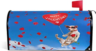 Valentine's Day Dog Magnetic Mailbox Cover MailWraps Garden Yard Home Decor for Outside Standard Size-18