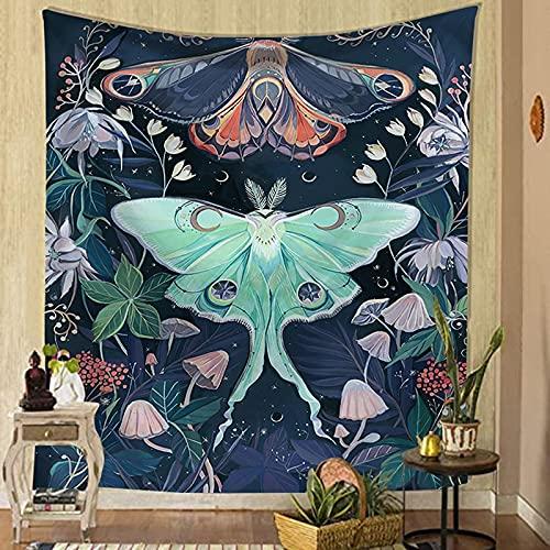 Schmetterling Blume Hintergrund Stoff Tapisserie Wandbehang nach Hause Insekt Tapisserie Decke Pflanze Hintergrund Stoff Tapisserie A10 150X200CM
