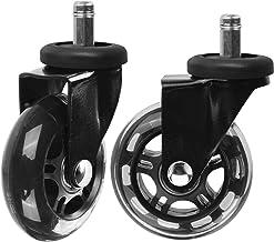 Slipstick CB690 Floor Protecting Rubber Office Chair Caster Wheels (Set of 5), Black