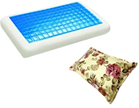 موون مخدة جل الطبية الباردة مقاس 70x40 سم مع غطاء وسادة فارغ مقاس 75x50 سم ، KPCM-006