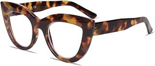 Blue Light Blocking Glasses Retro Vintage Cateye Eyeglasses for Women Plastic Frame Hipster Party SJ5025