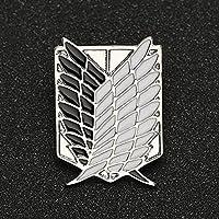ZALAタイタンブローチピンの翼自由スカウト連隊軍団調査偵察コープエレバッジアニメジュエリー卸売ファッション 人気 ブローチ 開会式 卒業 贈り物