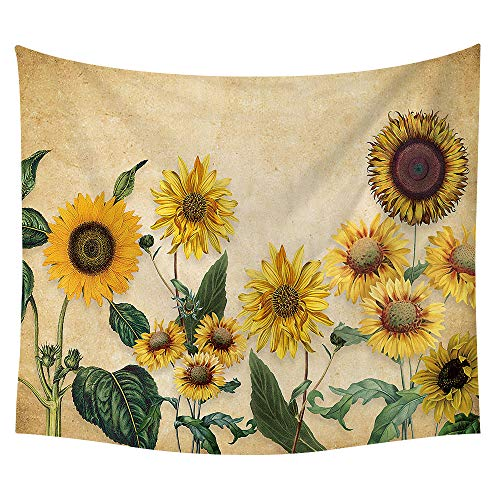 jtxqe Neue Tapisserie Wandbehänge Strandtuch Decke Sonnenblume neu 11 150 * 150