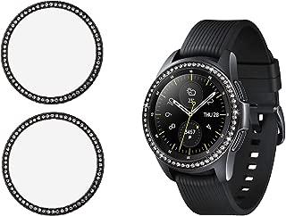Gsmartive Bling Bezel Compatible for Samsung Galaxy Watch 42mm/Gear Sport,2Pack Jewelry Crystal Diamond Women Men Watch Bezel Cover Protector (Black)