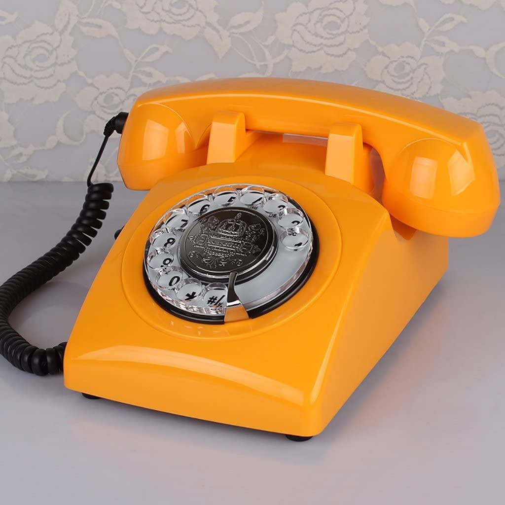 Gflyme Wired Phone//Retro Phone//Classic Desk Phone//Home Phone//Rotary Dial Phone Color : C
