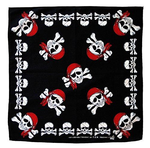 Piraten Kopftuch Bandana Halstuch Totenkopf