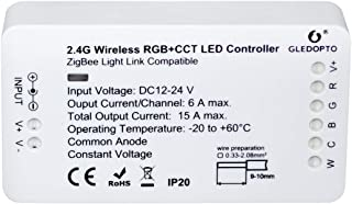 S NMT Home Smart Zigbee RGBCCT Strip Controller Compatible with Hue Bridge Amazon Echo Plus Alexa and Lightify Hub APP and Voice Controlled LED Strip Lights,Not Include Power Adapter