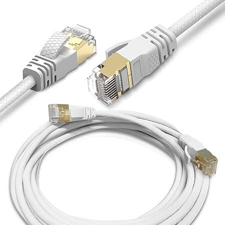 Nauc Netzwerkkabel Cat8 Ethernet Kabel 2 15m Patchkabel Elektronik