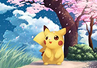 MR. XIAOLONG DIY 5D Diamond Painting Kits Kits for Adults,Pokemon Pikachu Full Drill Embroidery Paint with Diamond for Home Wall Decor(20x14inch- -23