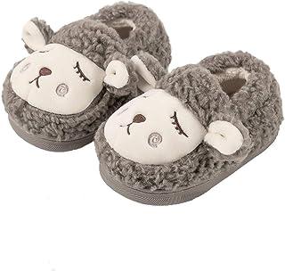 Zapatillas de Estar por Casa para Niñas Niños Invierno Zapatos Algodón Bebé Zapatillas Interior Casa Pantuflas, Suave Cale...