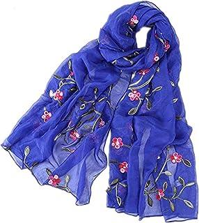 a8073ddabf MRULIC Echarpes foulards femme Foulard Floral Motif Coquelicot Spécial  Commémoration 1ère Guerre Mondiale - Blanc et