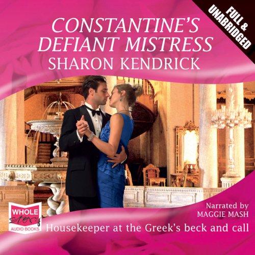Constantine's Defiant Mistress audiobook cover art