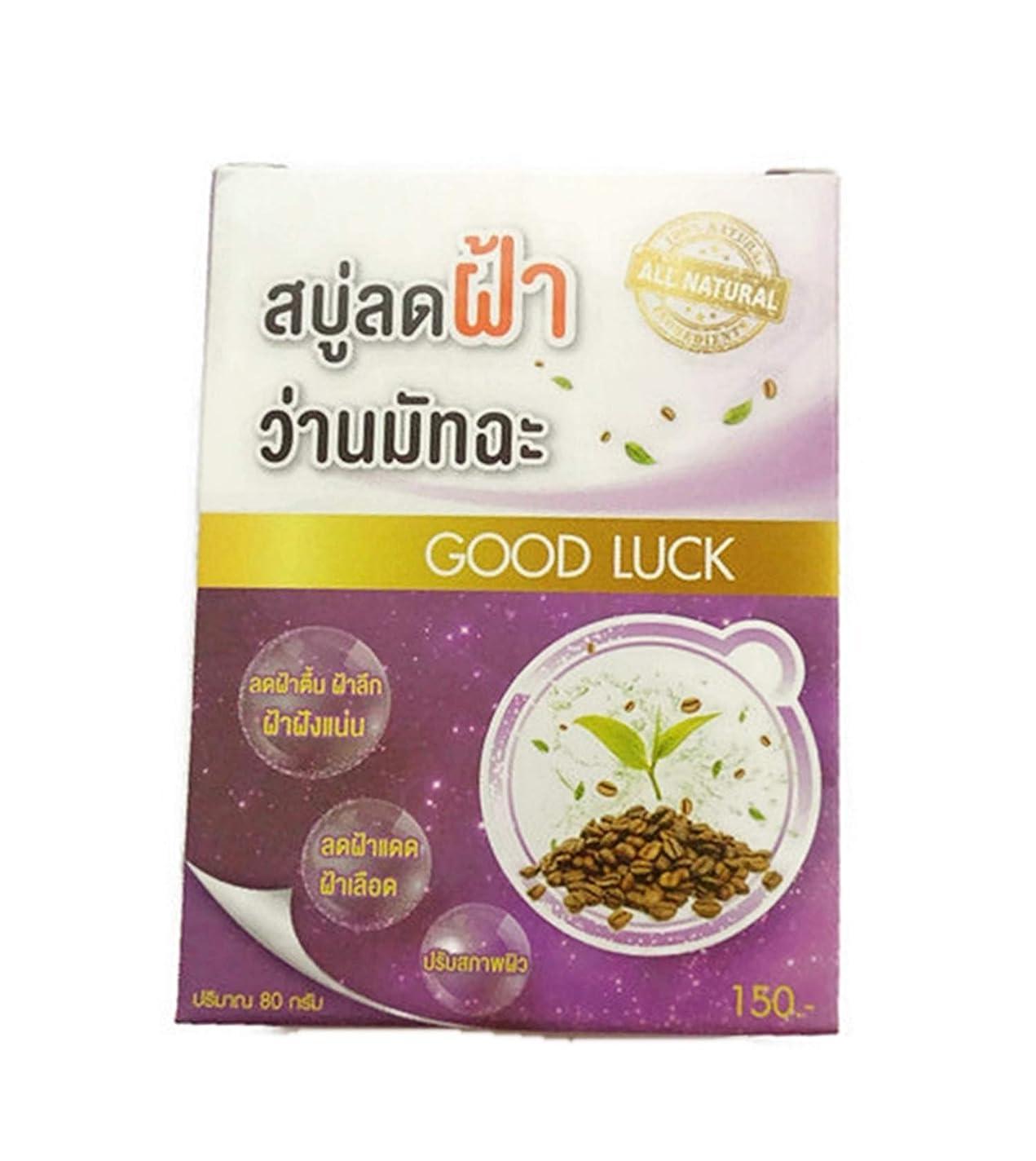 一掃するミトン一族AHA Coffee Aloe Green Tea Melasma Soap 80 grams.