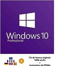 Windows 10 Pro 32 Bits & 64 Bits - Clé de Licence Originale par Postale et E-Mail + Instructions de TPFNet® - Livraison Maximum 60min