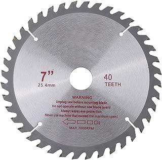 7 inches 40T Teeth Cemented Carbide Circular Saw Blade Cutting Disc Wood Cutting Tool Bore Diameter 25.4mm