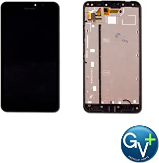 Group Vertical Replacement Screen Complete Frame LCD Touch Digitizer Screen Assembly Compatible with Nokia Lumia 640 XL (Black) (GV+ Performance)