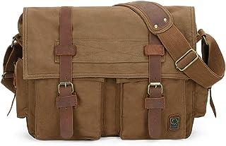 Seven-color de algodón de la moda de la lona de la computadora de la bolsa de mensajero de los hombres bolso grande hombro