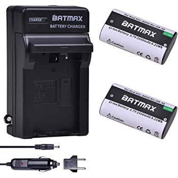 Compatible with Kodak KLIC-8000 Digital Camera Batteries and Chargers Replacement for Kodak Easyshare Z8612 is Battery and Charger with Car Plug and EU Adapter 2000mAh 3.7V Lithium-Ion