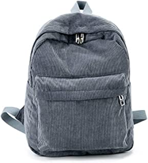 Damen Vintage Cord Rucksack Schultasche Casual Computer Schule Reise Handtasche Schultertasche