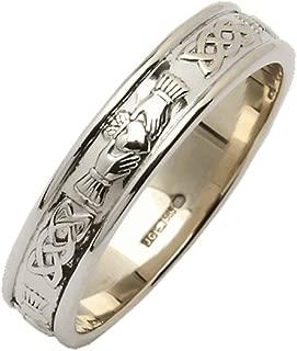 Biddy Murphy Womens Claddagh Ring Sterling Silver Wedding Band Made in Ireland